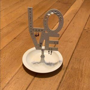 LOVE Pottery Barn Earring Holder